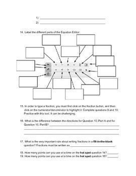 PARCC Scavenger Hunt - High School Math