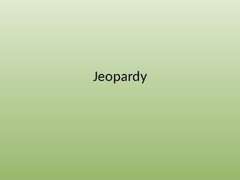 PARCC Science Jeopardy 4th/5th Grade