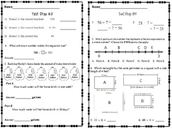PARCC Standardized Test Prep 3rd Grade Math Review