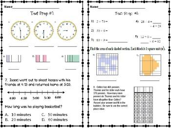 TCAP/Standardized Test Prep 3rd Grade Math Review