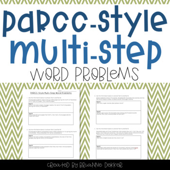 PARCC-Style Multi-Step Word Probems