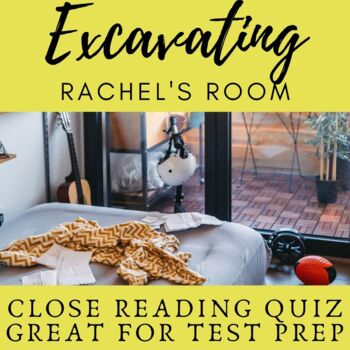 PARCC Style Questions for Excavating Rachel's Room