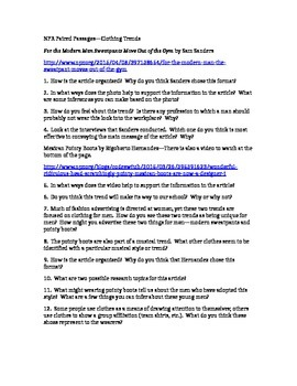 PARCC Test Prep / Common Core Paired Passages for High School ELA--Trends