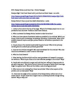 PARCC Test Prep / Common Core Paired Passages for High School ELA--Navajo Nation