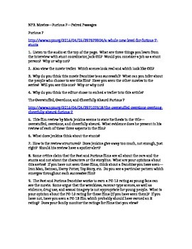 PARCC Test Prep / Common Core Paired Passages for High School ELA--Furious 7