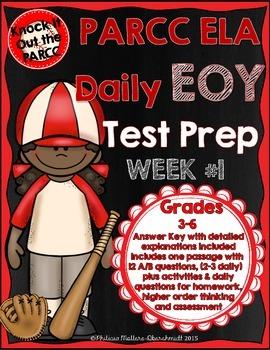 PARCC Test Prep End Of Year Weekly Practice Set