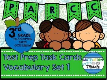 PARCC Test Prep GRADE 3 Vocabulary Task Cards A/B Format