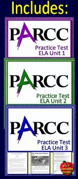 ELA PARCC Test Prep HUGE Bundle - Practice Units ELA 1 - 3 PLUS 12 Review Games