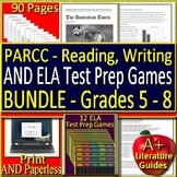 PARCC Test Prep HUGE Bundle ELA 1 - 3 Google Ready Tests + 12 Review Games