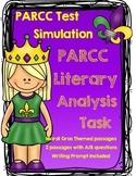 PARCC Test Prep Complete Literary Analysis Simulation w/Mardi Gras Theme