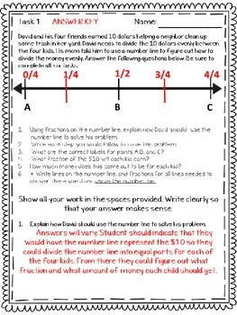 PARCC Test Prep Math Grade 5 PBA Fractions 5.NF.7