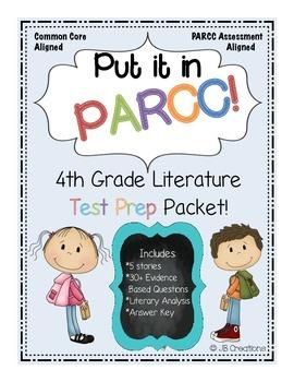 *PARCC Test Prep Pack for 4th Grade Literature