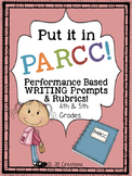 *PARCC Test Prep Pack for Writing Performance Based Prompts (4th-5th grades)