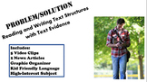 Problem/Solution Text Structure Writing Evidence Test Prep