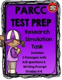 PARCC Test Prep: Research Task with Three Passages/Questions and Writing Prompt