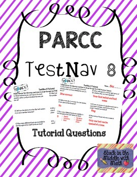 PARCC TestNav 8 Tutorial Questions