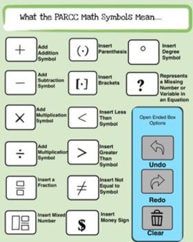 (Sale) PARCC Testing Kit: Student Tools and Terms Kit