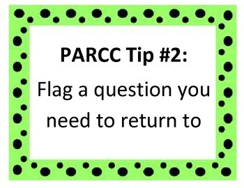 PARCC Testing Tips Posters