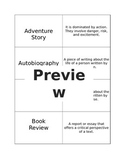 PARCC Types of Writing Cards