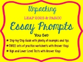LEAP 2025 / PARCC: Unpacking Essay Prompts - How to Know E