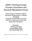PARCC Writing Prompt Practice: Persuasive and Research Simulation