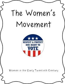 Common Core/PARCC Writing Prompt:  The Women's Movement