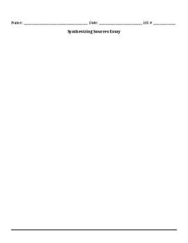 PARCC-aligned Essay