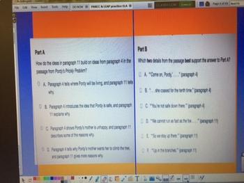 PARCC and LEAP Test Prep 10 passages and question sets- Activinspire Flipchart