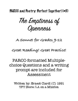 """PARCC and Poetry: Perfect Together! (#5) """"The Emptiness of Openness"""""""