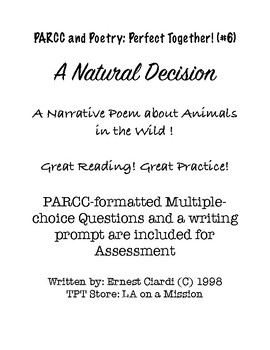 PARCC and Poetry: Perfect Together! (#6) A Natural Decision