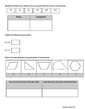 PARCC Test Prep Grade 4