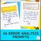 Error Analysis | Math Journal Prompts Grade 3 CCSS Aligned