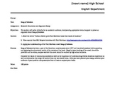PARCC formatted Song of Solomon essay and CCSS argumentati