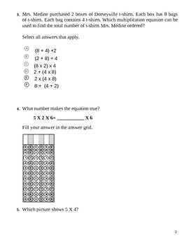 PARCC-like Assessment 3.OA.A.1, 3.OA.B.5