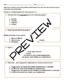 PARCC-like ELA Task - Questions and Written Response