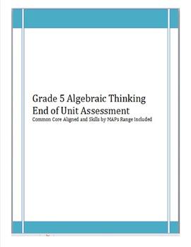 4th/5th Gr. Operations & Algebraic Thinking(4OAA1, 4OAA2,5OAA1,5OAA2) Assessment