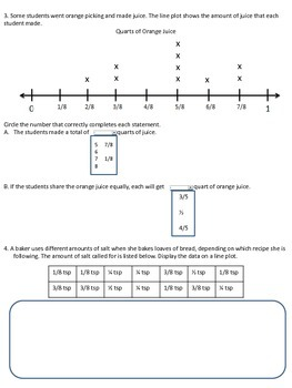 PARCC-like Line Plots Assessment