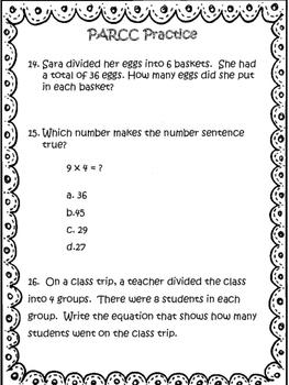 PARCC-like Math Prep: 3rd Grade