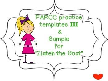 PARCC practice templates III
