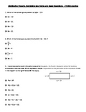 PARCC style questions-Distributive Property, Combine Like Terms, Basic Operation