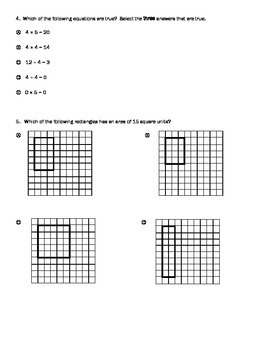 PARCC style questions--Multiplying and Dividing
