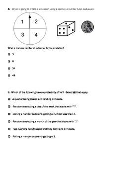 PARCC style questions --Probability