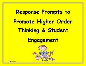 PARCC/CCR:Response Prompts to Promote Student Engagement
