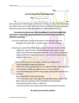 PARCC/Common Core Aligned Project Based Learning - Greek M