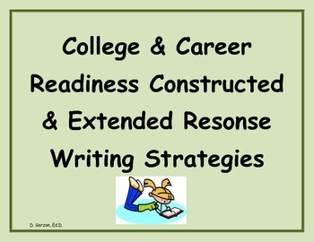 PARCC/Writing to Sources/Pearson CCSS  Written Responses Anchor Chart