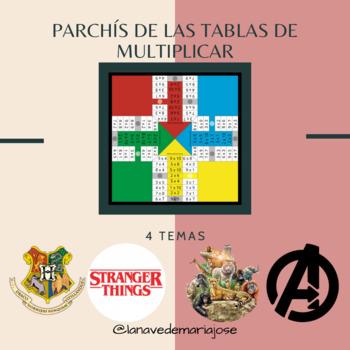 Parchis De Las Tablas De Multiplicar By La Nave De Maria Jose Simon