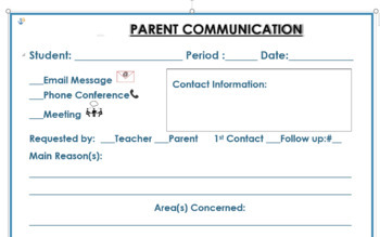 parent conference template