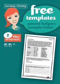 PARENT LETTER - Classroom helpers