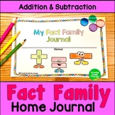 Fact Families Addition and Subtraction Home Journal