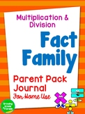 Math Fact Family Journal Parent Pack Multiplication and Division